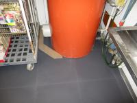 Ecotile Industriebodenplatte bei einer Handelskette Lagerbereich