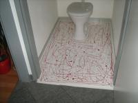 Eintropftechnik WC, Designboden, Designböden