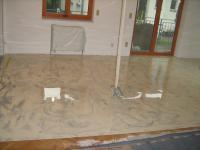 Wischtechnik Ral. 1015 und Ral. 7039, Dekorböden, Designboden
