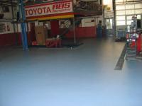 nachher fertige Strukturbeschichtung, Autowerkstatt, Garagenbeschichtung